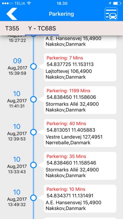 Smartgps app parkering